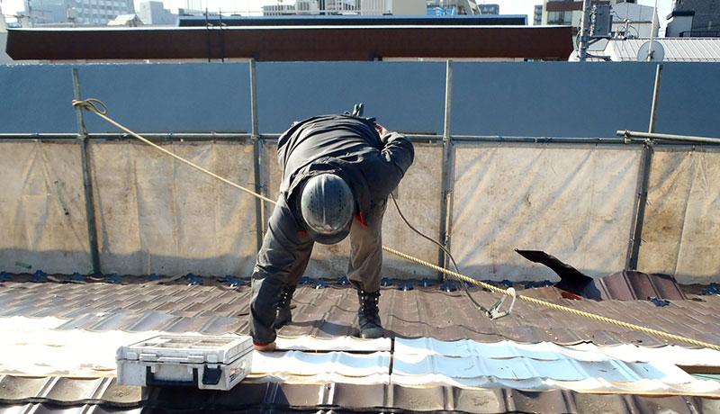 屋根材・外壁材の撤去